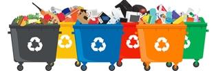 Poubelles recyclage